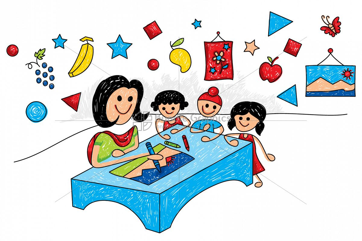 Kid Art Class Colorful Graphical Illustration example image 1