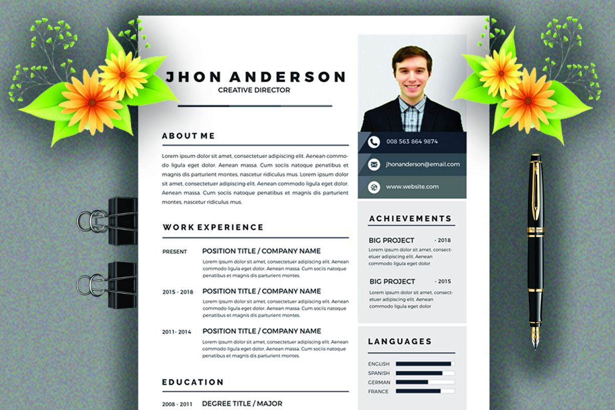 Resume /CV Template  example image