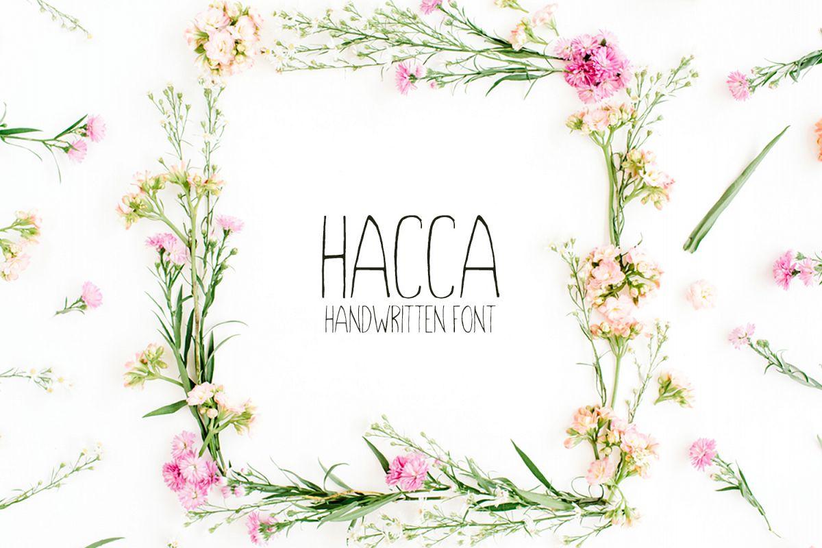 Hacca Handwritten Sans Serif Font example image 1