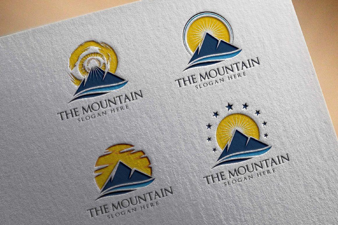 Mountain, summit logo template example image 1