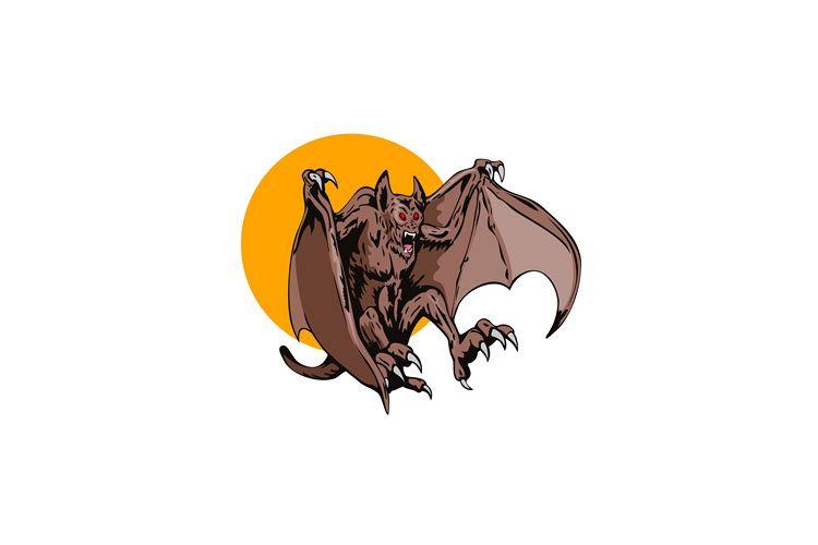 Bat Monster Retro example image 1