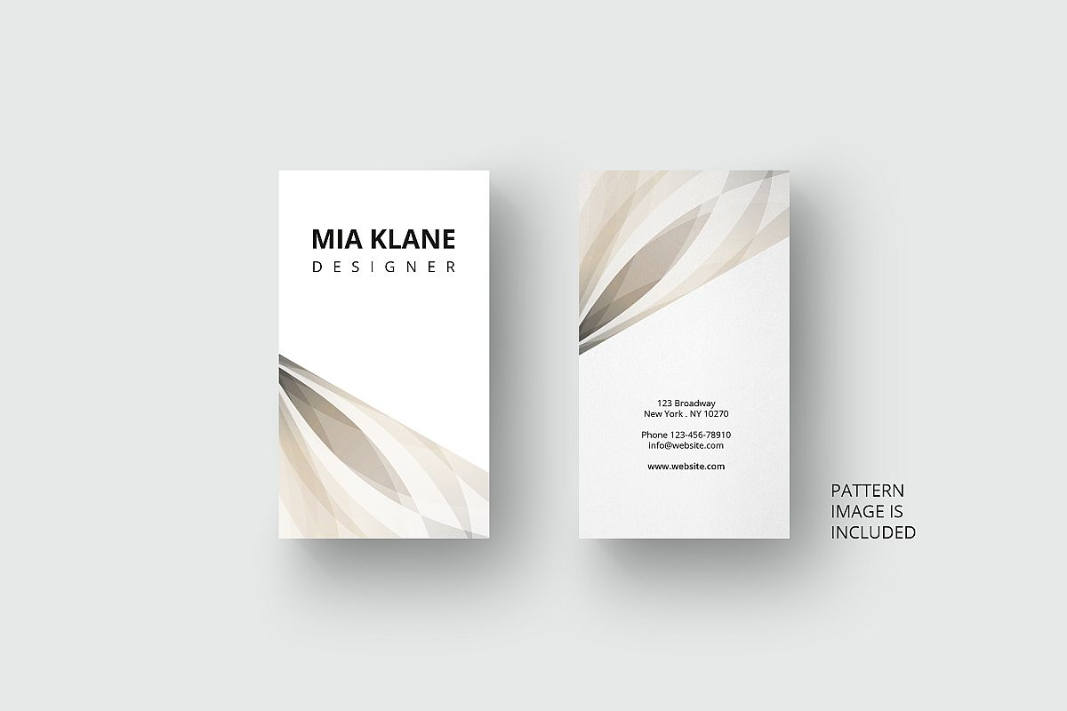 business card template with abstract ge design bundles