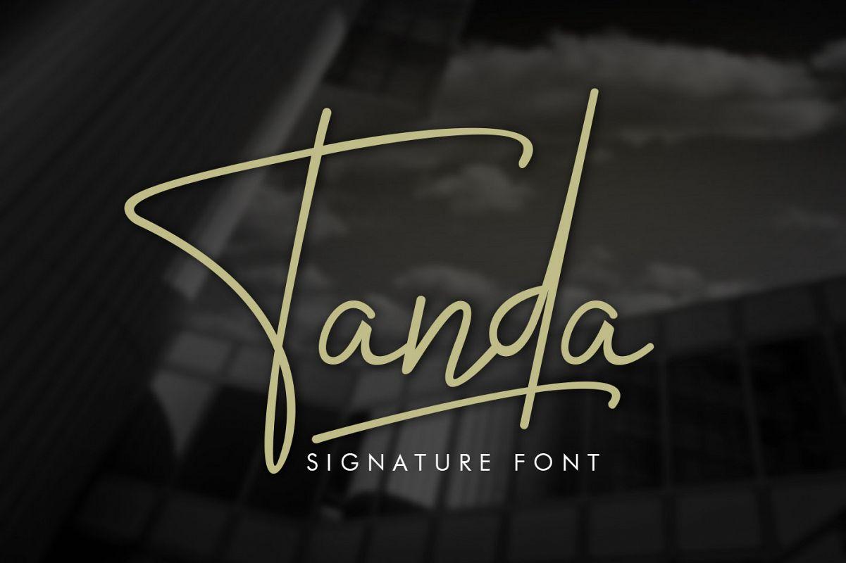 Tanda Signature Font example image 1