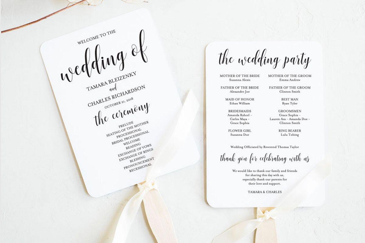 Wedding program fan example image 1