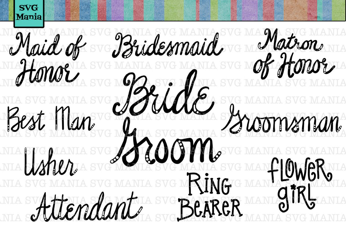 Svg Bundle Wedding Party Gifts Cut Files Sayings Bridal
