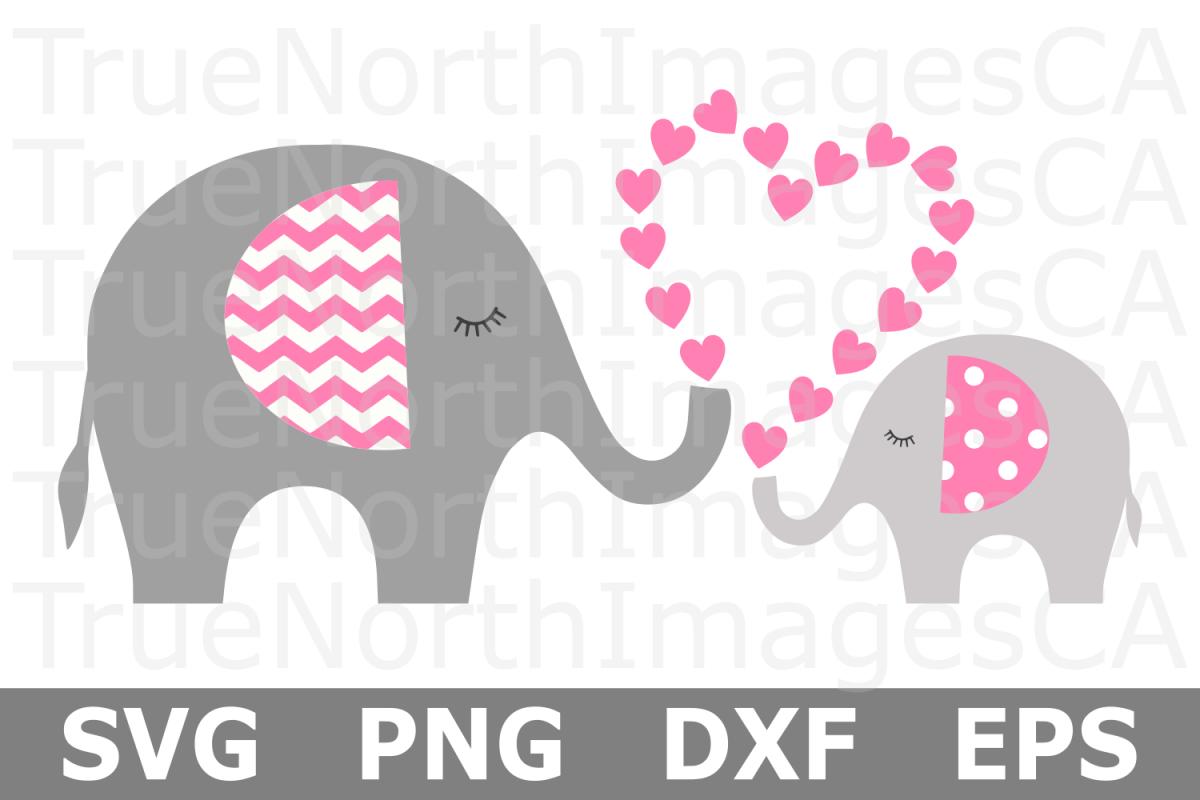 Heart Elephant Heart - An Animal SVG Cut File example image 1