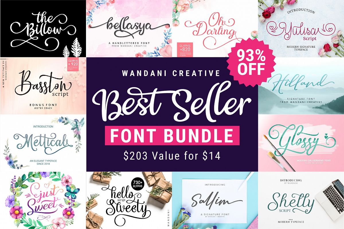 Best Seller Font Bundle example image 1