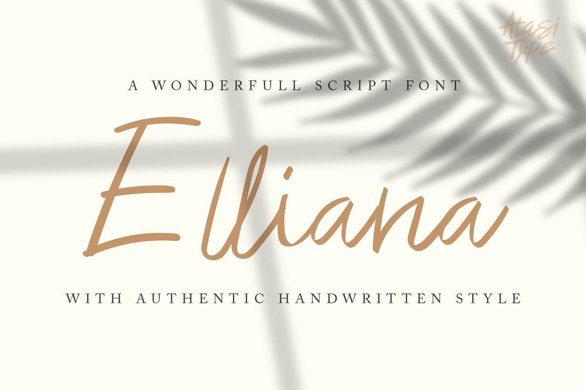 Elliana - Handwritten Script example image 1