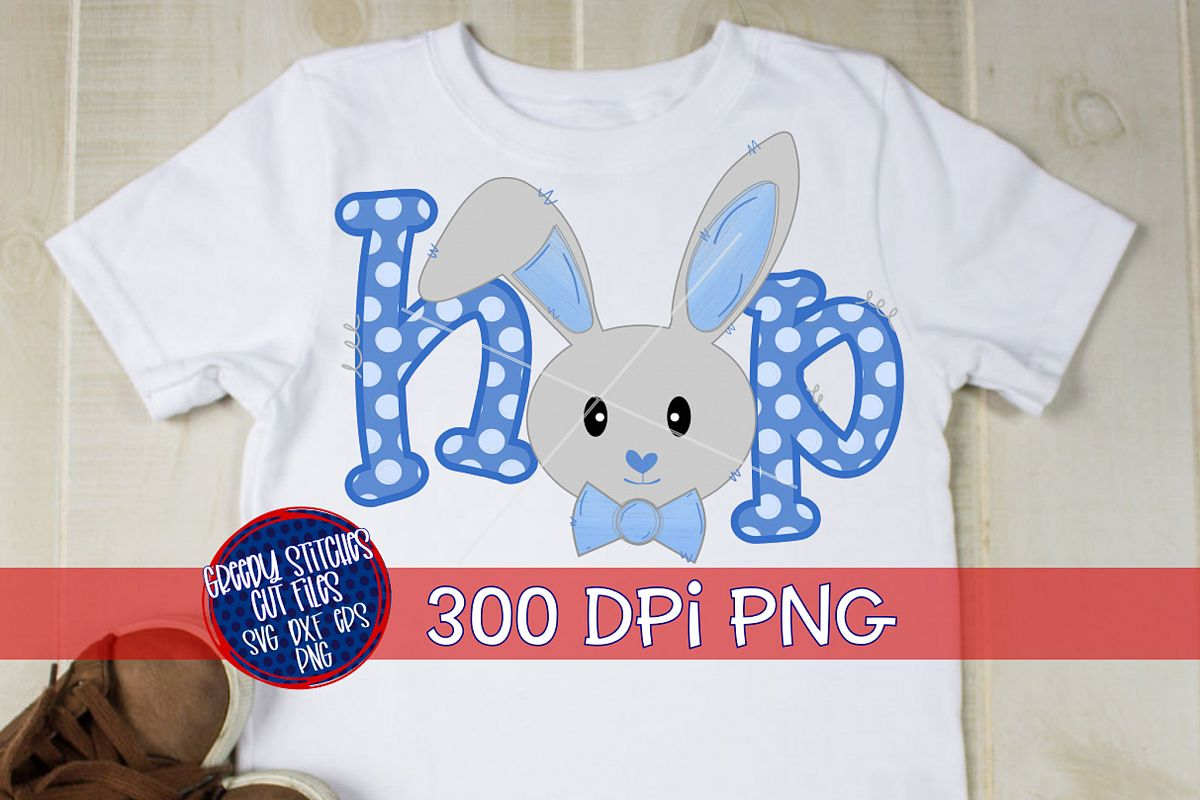 Easter PNG | Bunny Boy Hop PNG For Sublimation example image 1