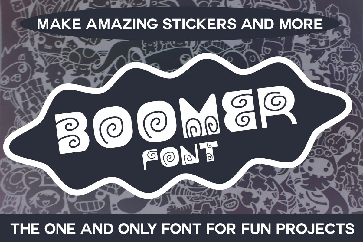 Boomer - Fun Font for Cute Projects example image 1