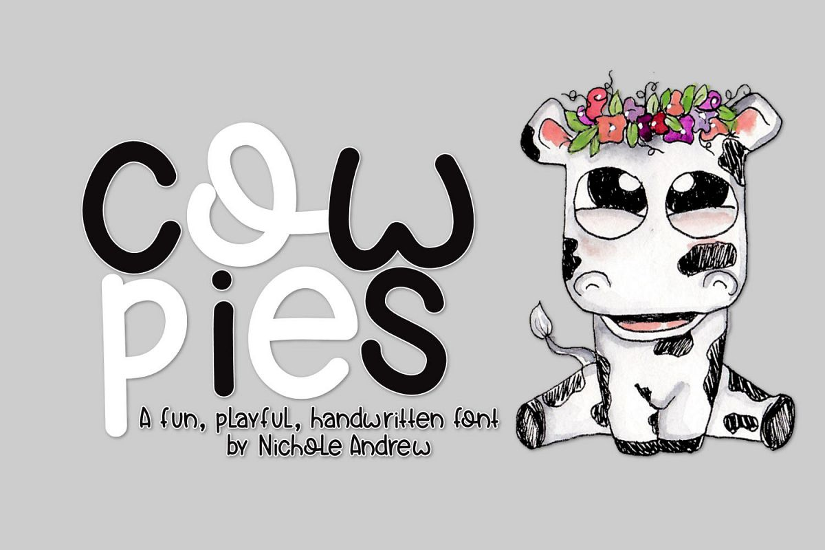 Cow Pies, A Handwritten Font example image 1