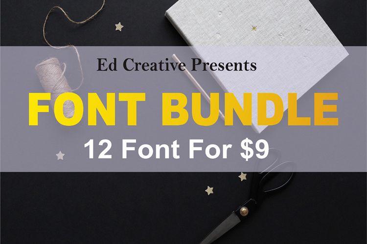font bundle 12 font for $9 example image 1