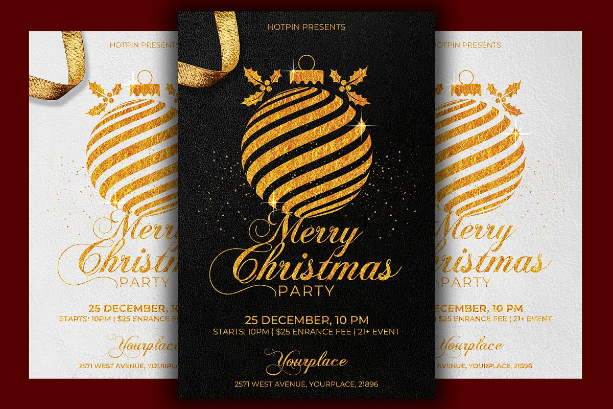 Classy Christmas Flyer Template example image 1