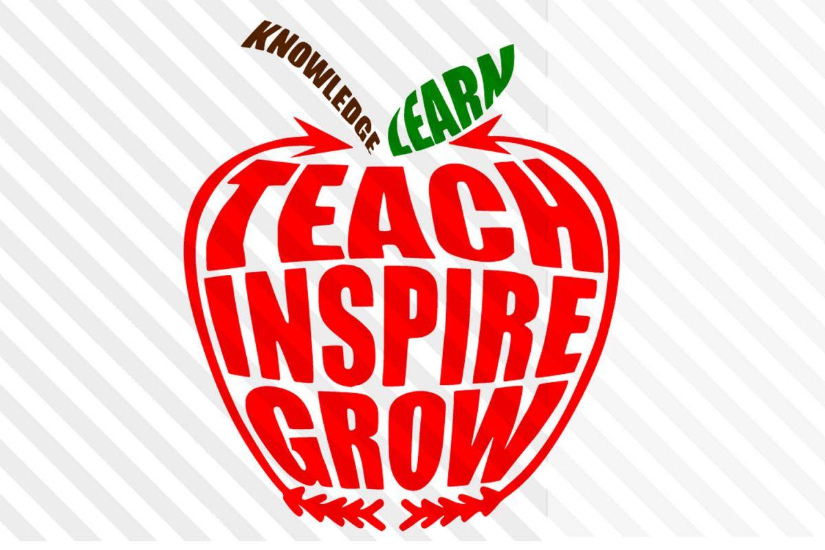 School,Teacher,Kids,Apply,SVG,cricut,silhouette,Clipart, example image 1