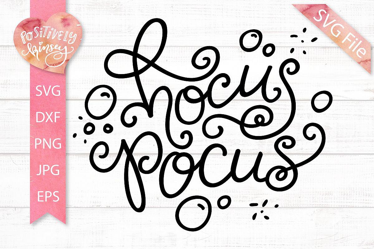 Hocus Pocus SVG DXF PNG EPS, Halloween SVG, Witch SVG Design example image 1