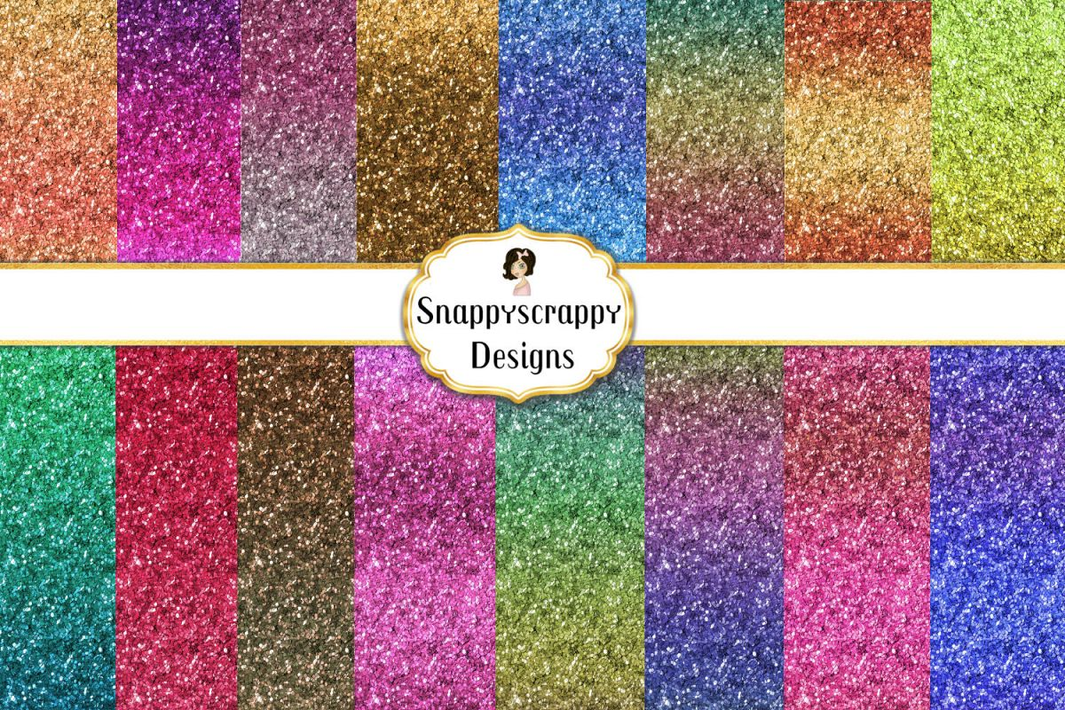Glitter Gradient Background Papers example image 1