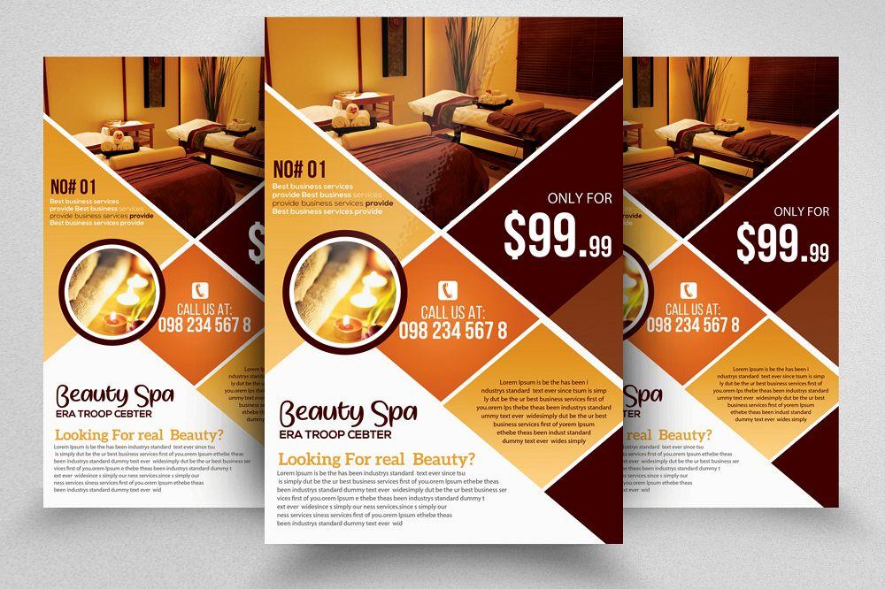Spa Massage Center Flyer