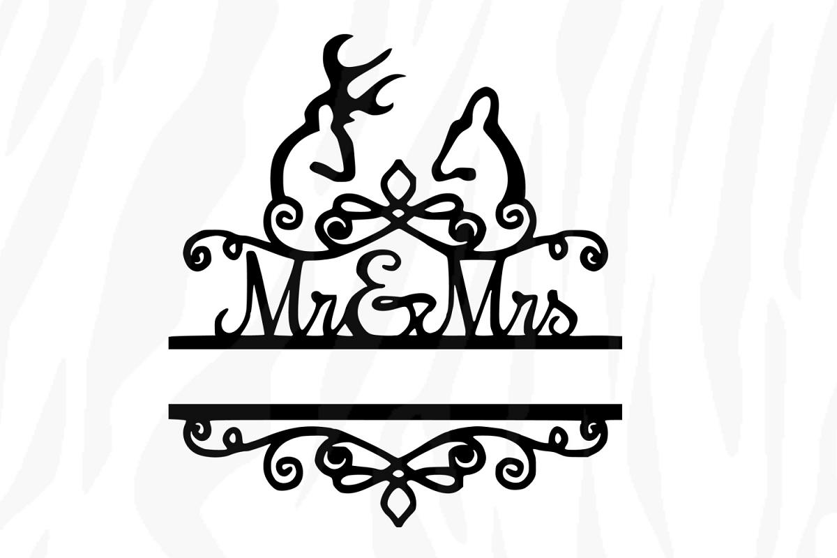 mr and mrs svg,wedding svg,mr and mrs svg file,Bride svg example image 1
