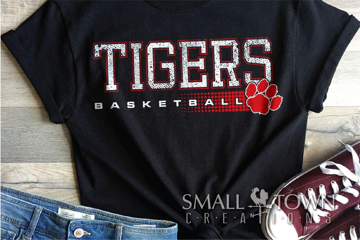Tigers basketball, tiger mascot, team, PRINT, CUT, DESIGN example image 1