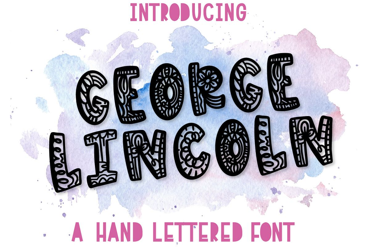 George Lincoln- A Silly Doodle Font example image 1