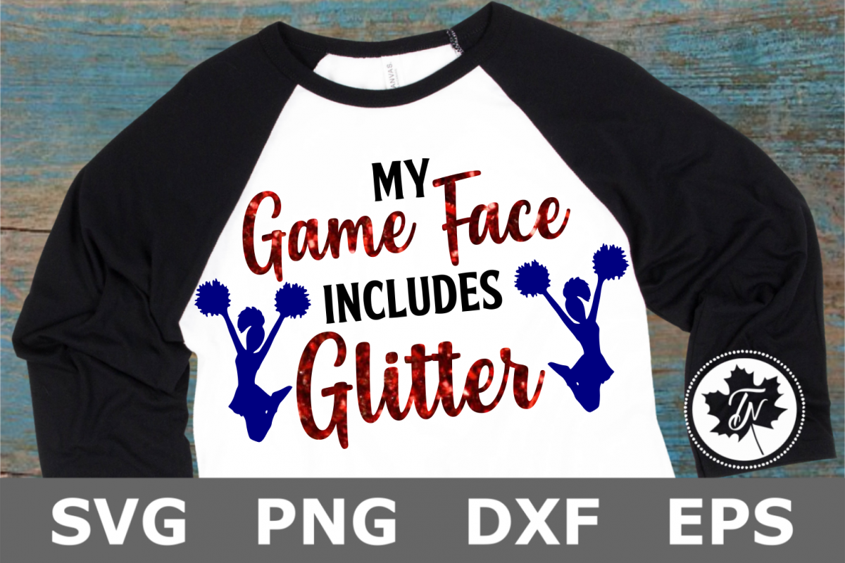 My Game Face Includes Glitter - A Sports SVG Cut File example image 1