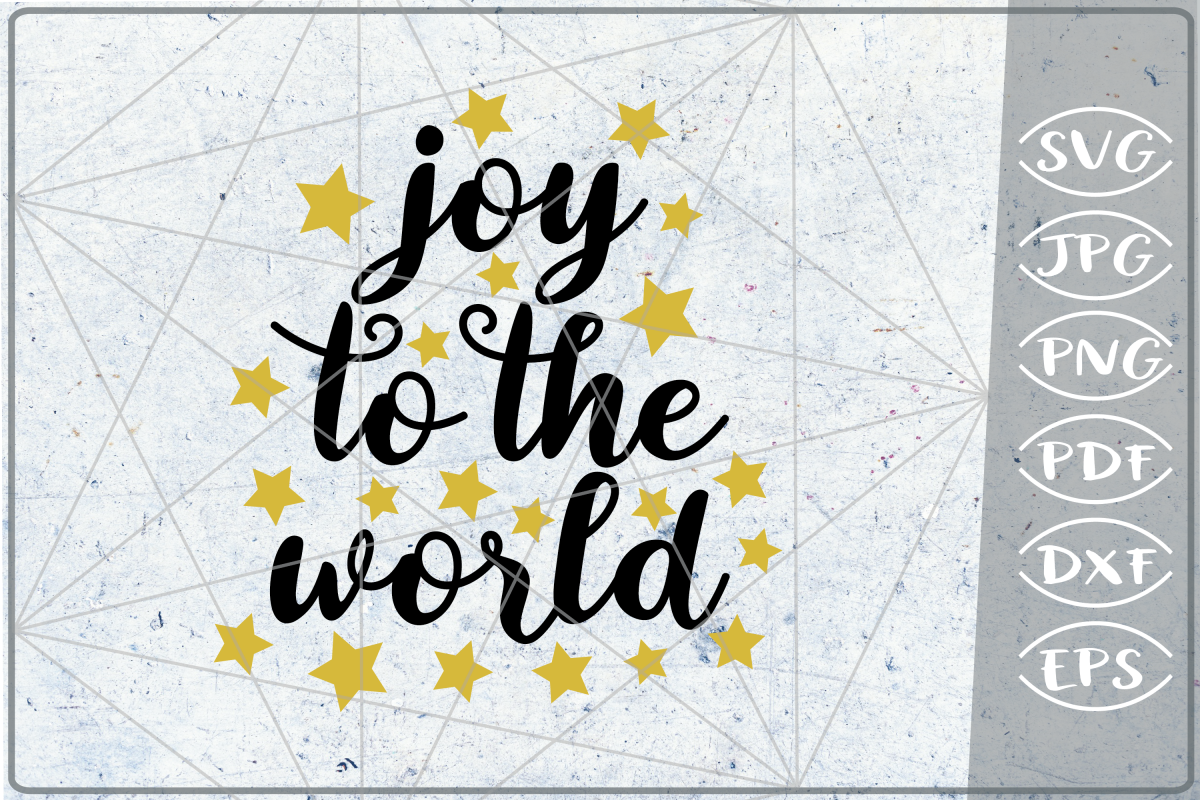 Joy To The World SVG Quote SVG Merry Christmas Print Cricut example image 1