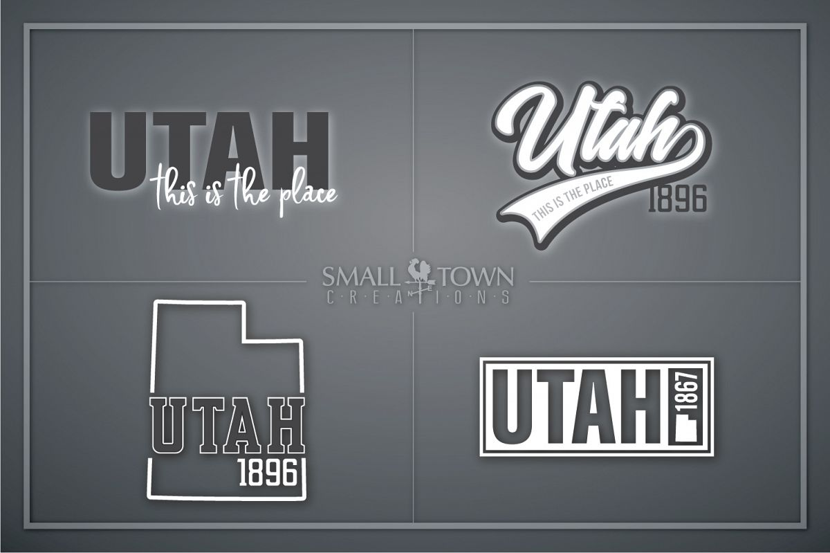 Utah,This is the Place - slogan, PRINT, CUT & DESIGN example image 1