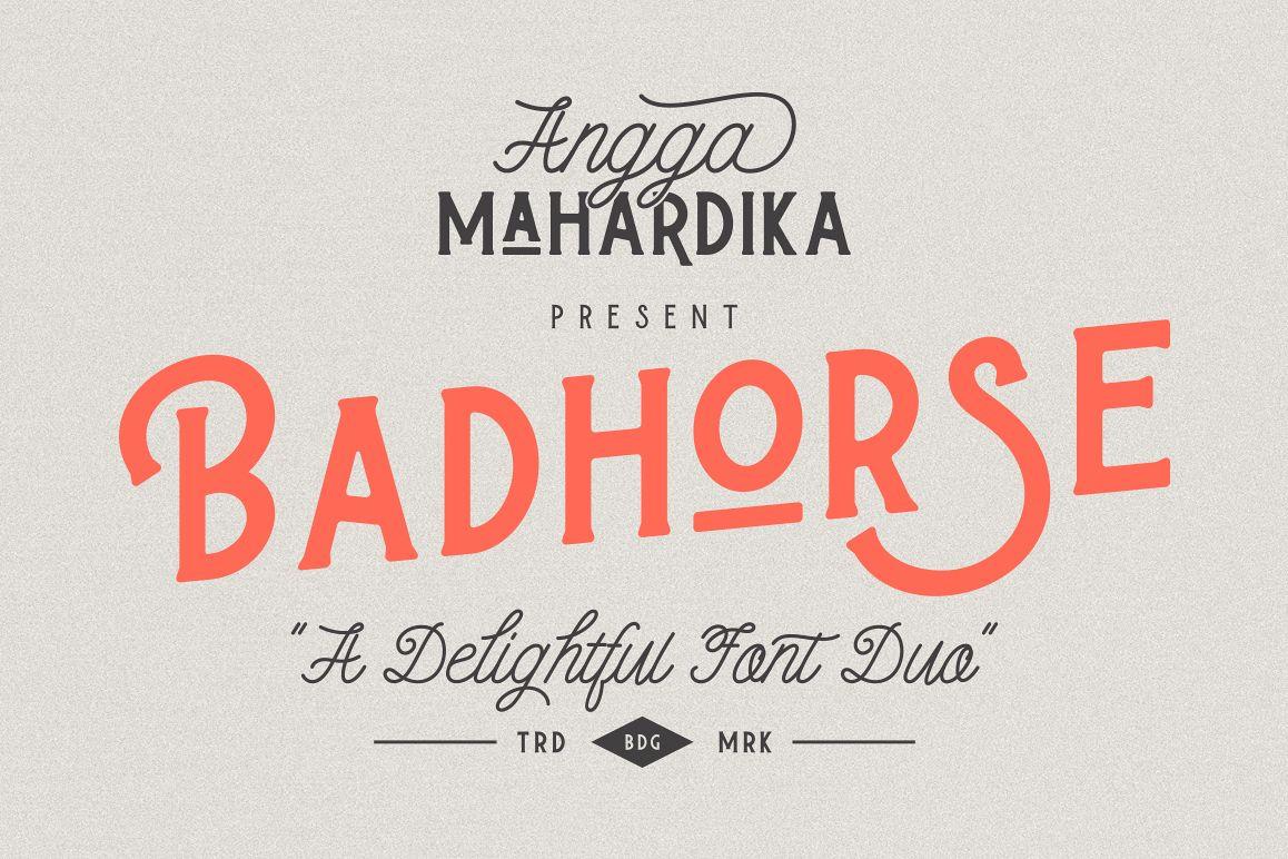 Badhorse Font example image 1