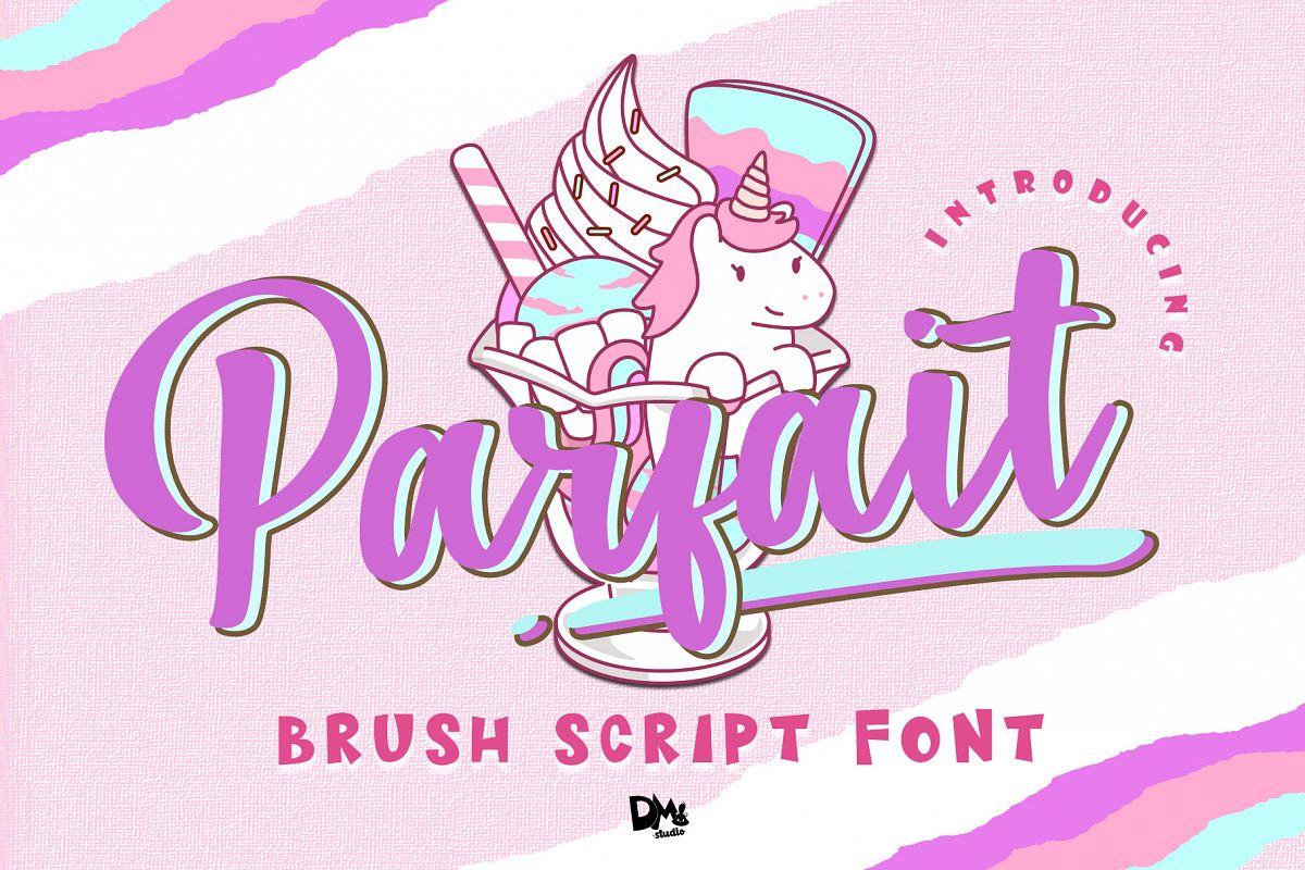 Parfait - Brush Script Font example image 1