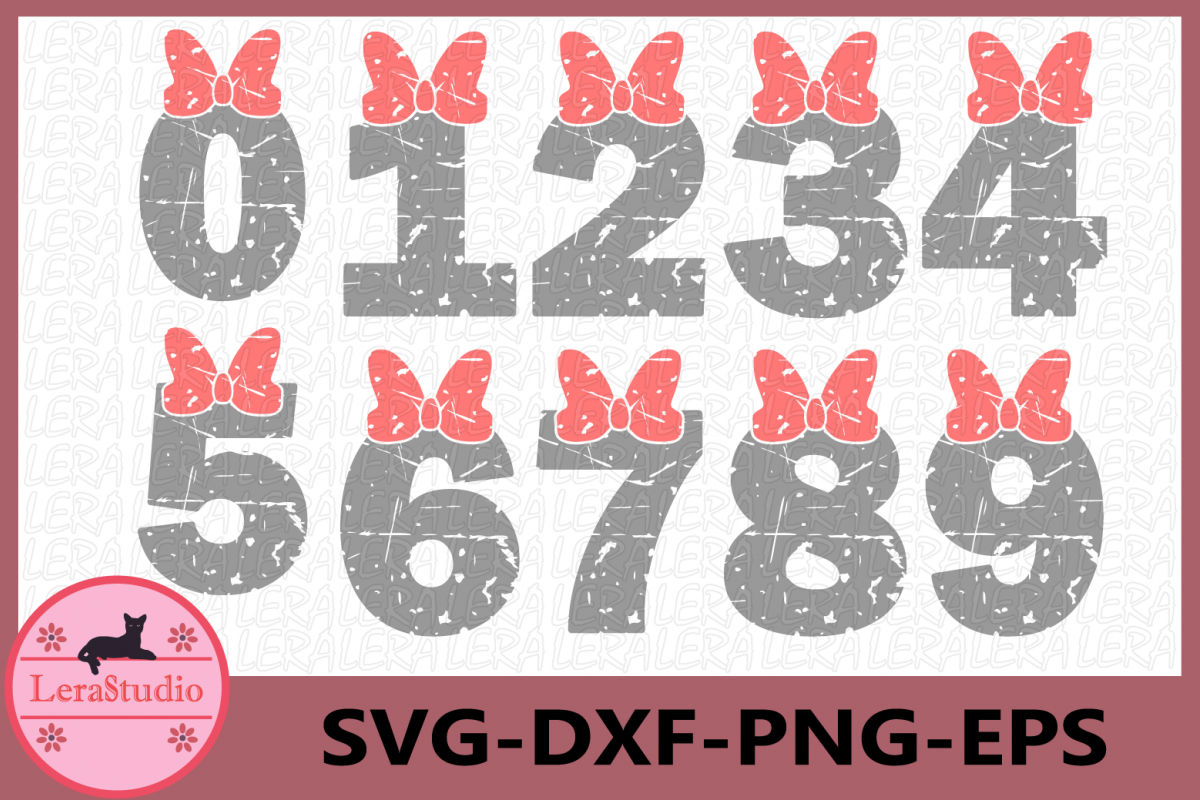 Numbers SVG, Numbers Grunge SVG, Vector Files, Silhouette example image 1