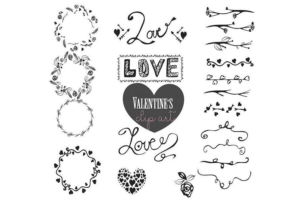 Love Valentine's Day vector art example image 1
