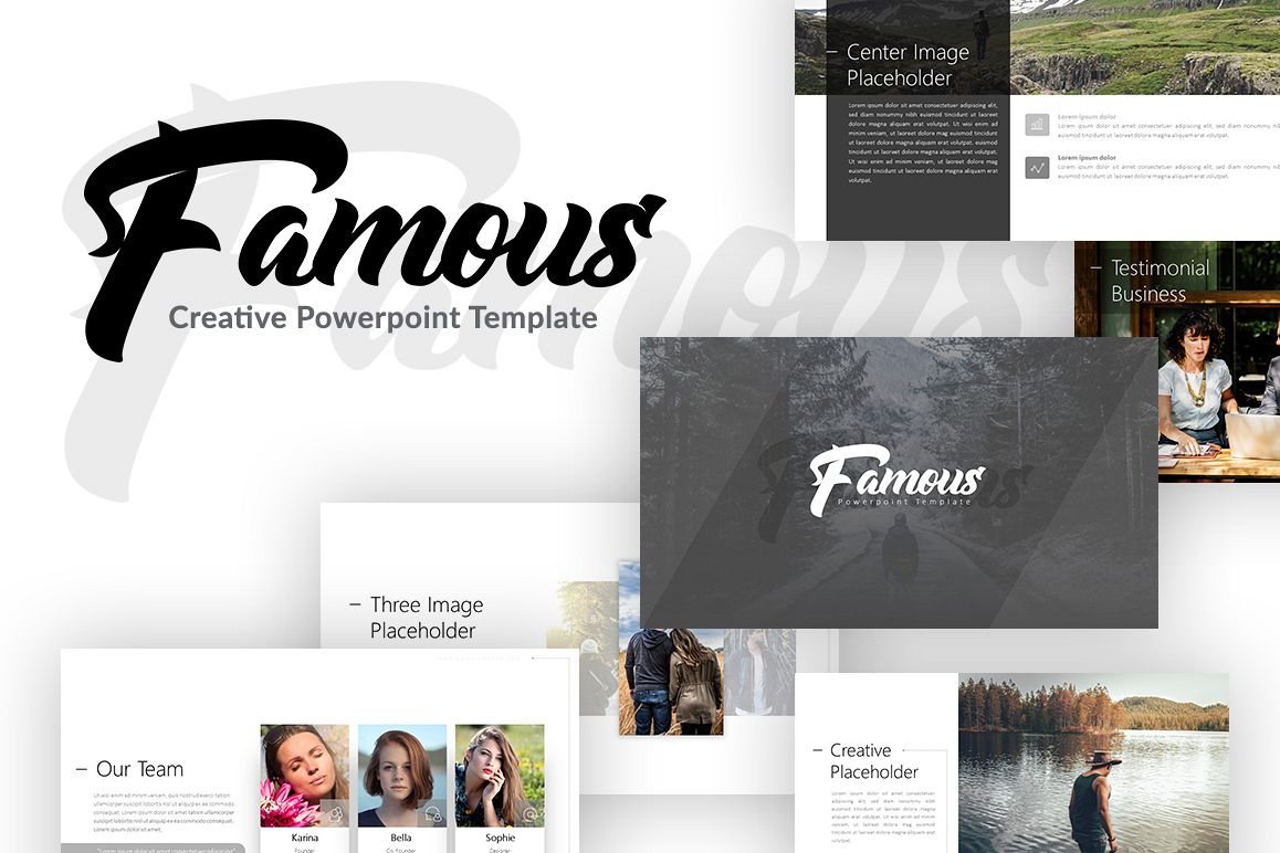 Famous - Creative Presentation example image 1