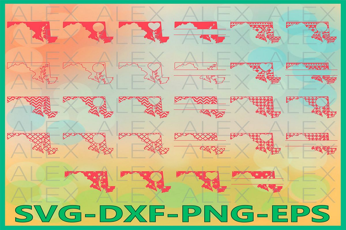 Maryland State SVG, Maryland SVG files for Cricut example image 1