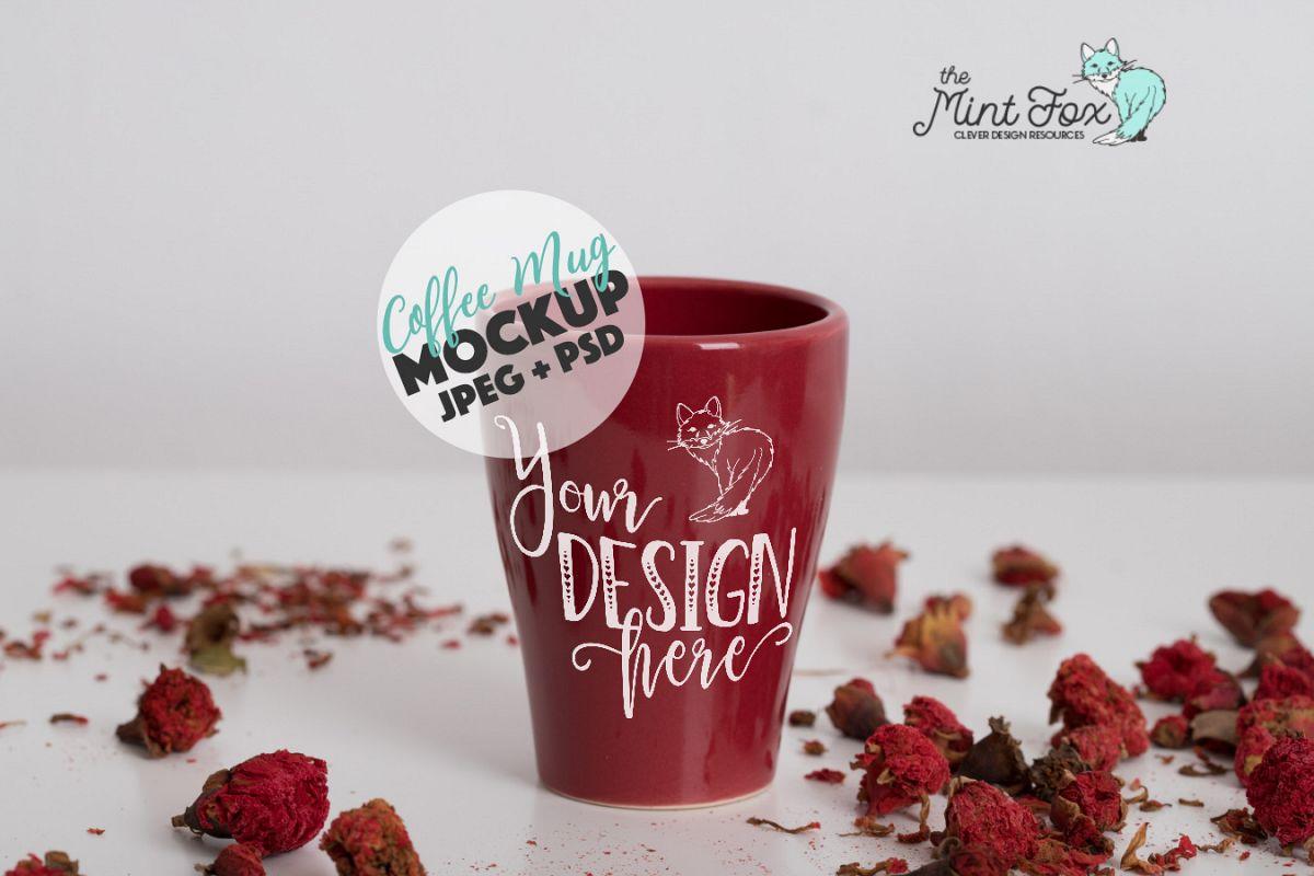 Coffee Mug Mockup | PSD & JPG Coffee Cup Mock Up example image 1