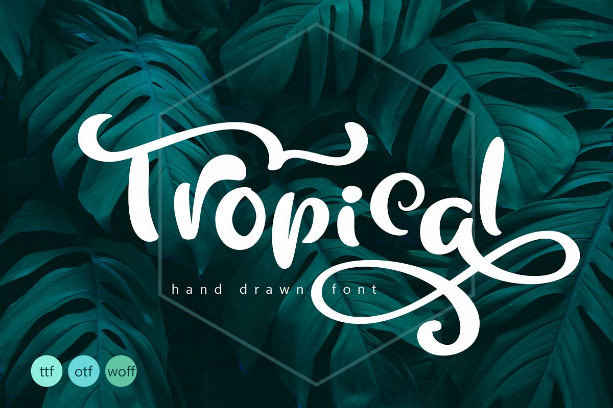 Tropical Summer Font example image 1