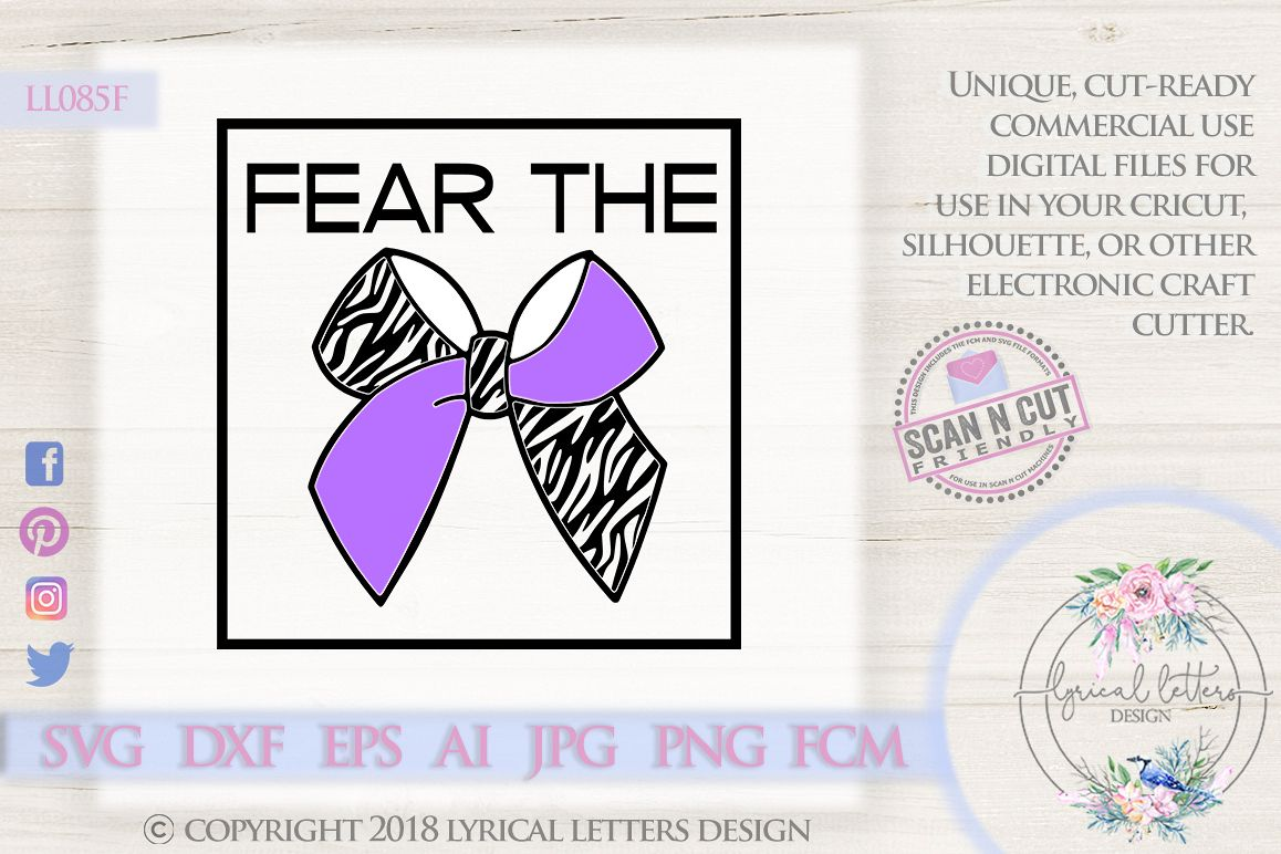 Fear the Bow Cheerleader SVG DXF Cut File LL085F example image 1