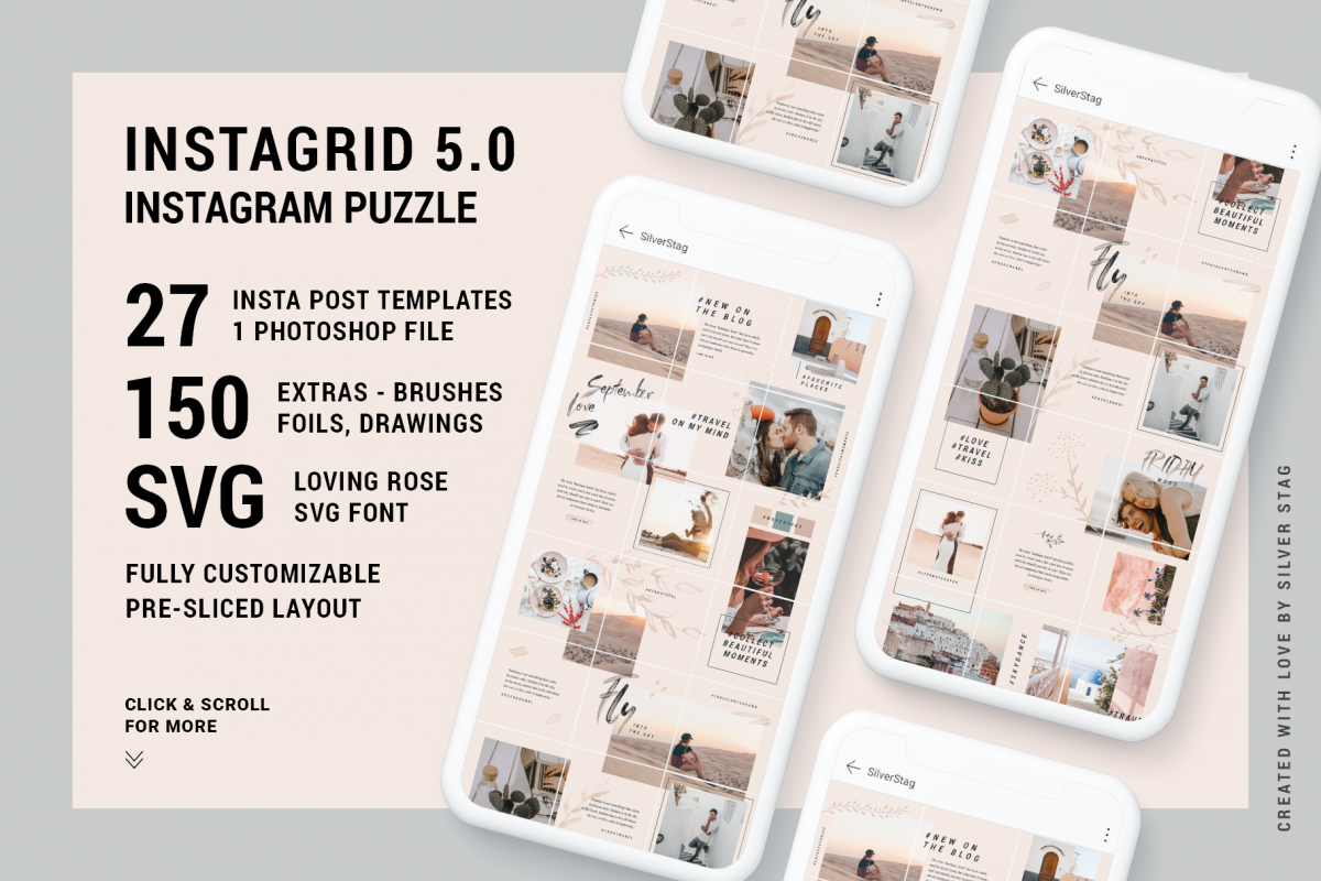 InstaGrid 5.0 - Creative & Modern Instagram Puzzle Template example image 1