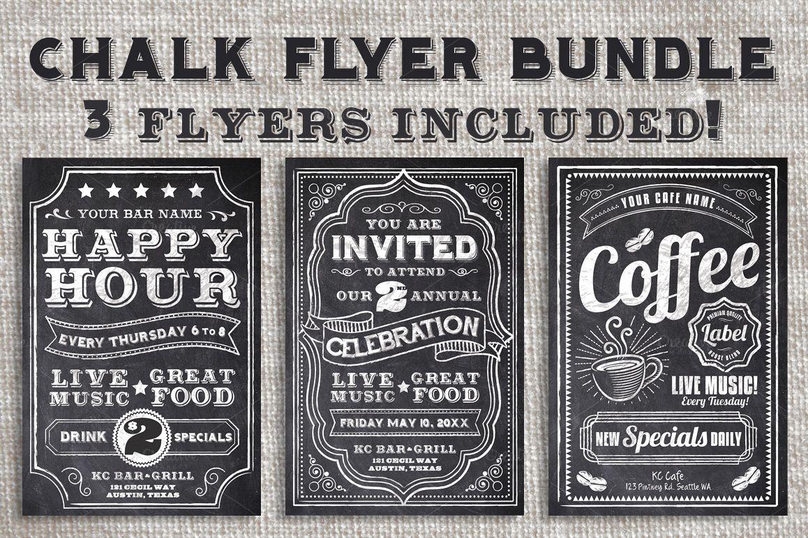 Chalk Flyer Bundle Pack example image 1