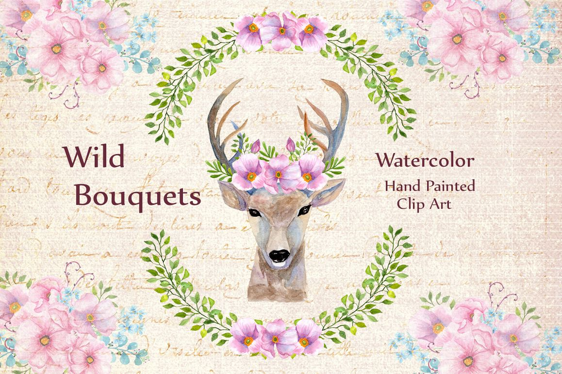 Boho Wedding Floral Clipart