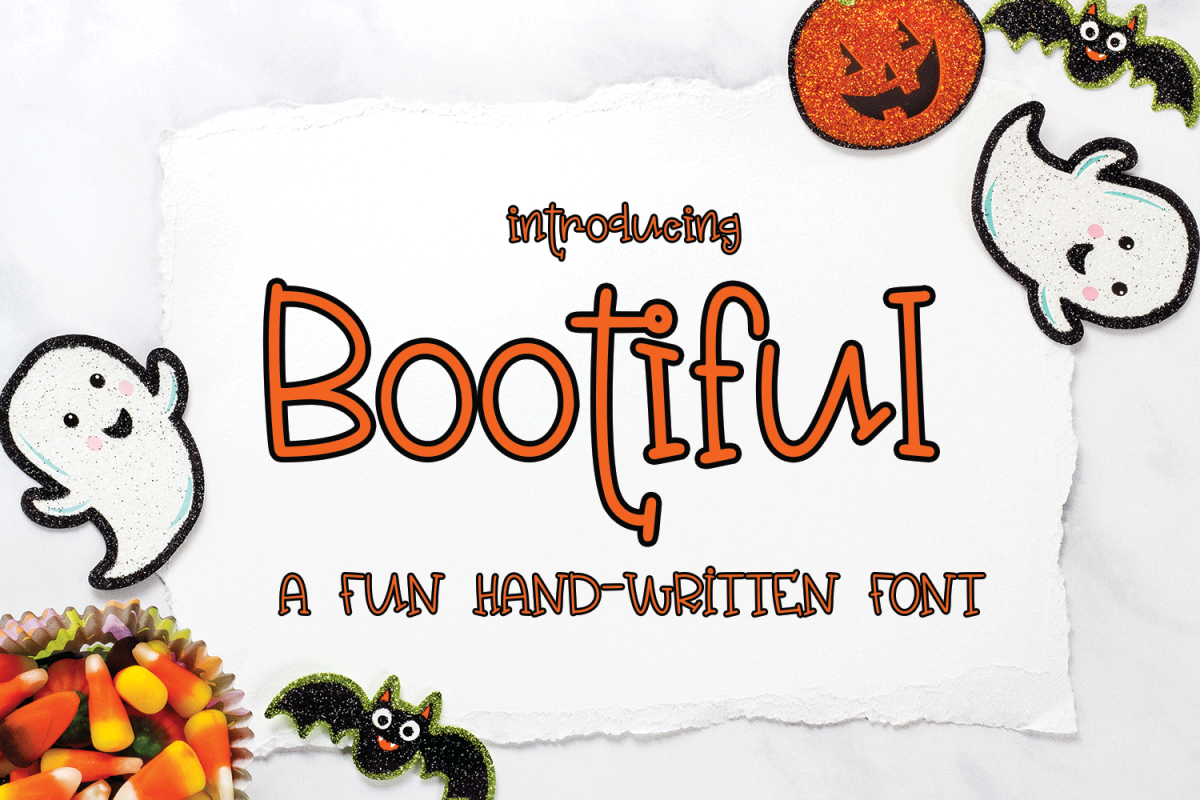 Bootiful - A Fun Hand-Written Font example image 1