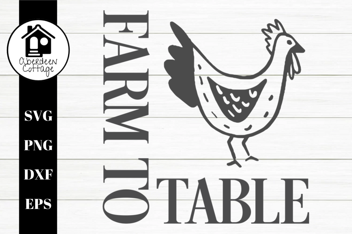 Farm To Table Boho Rooster SVG | PNG | DXF | EPS example image 1