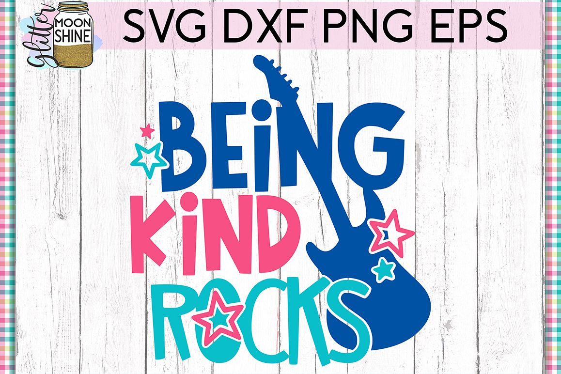 Being Kind Rocks SVG DXF PNG EPS Cutting Files example image 1