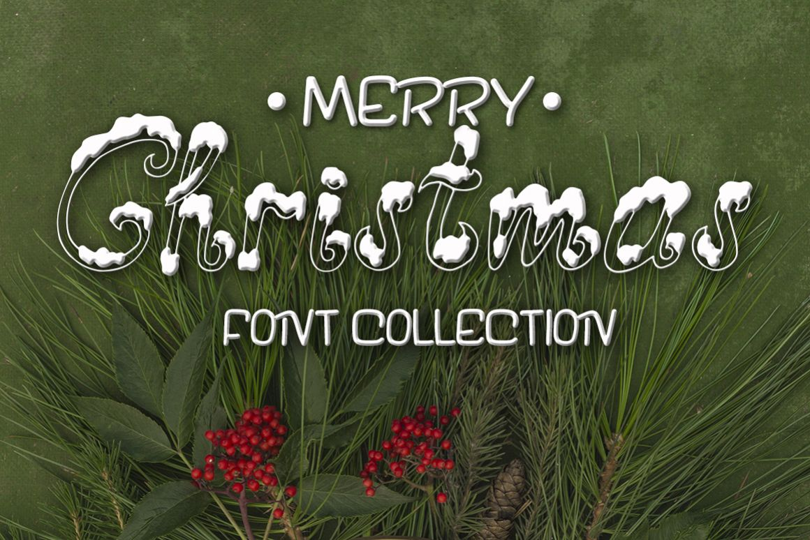 Three fonts for Christmas cards example image 1