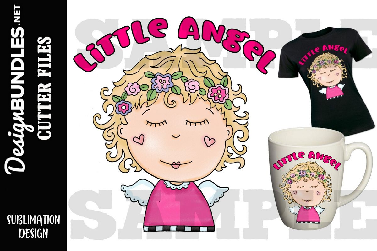 Little Angel Sublimation Design example image 1