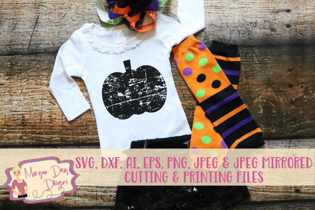 Grunge Pumpkin SVG, DXF, AI, EPS, PNG, JPEG example image 1
