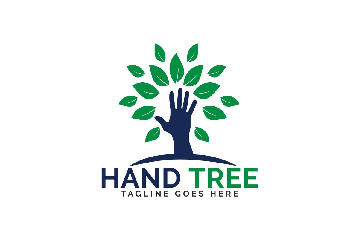 Hand Tree Logo Design. example image 1