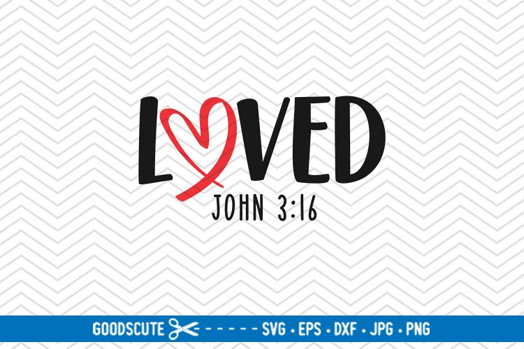 Loved - SVG DXF JPG PNG EPS example image 1