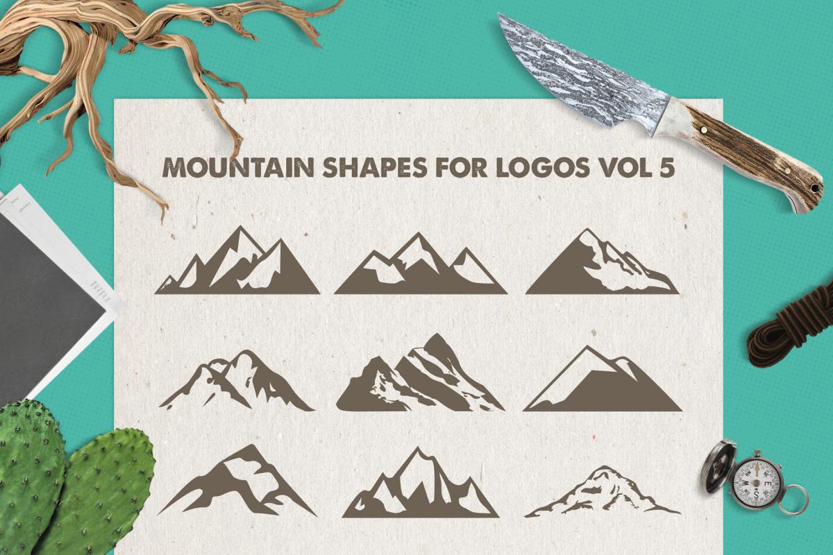Mountain Shapes For Logos Vol 5 / Mountain Silhouette / Logo example image 1