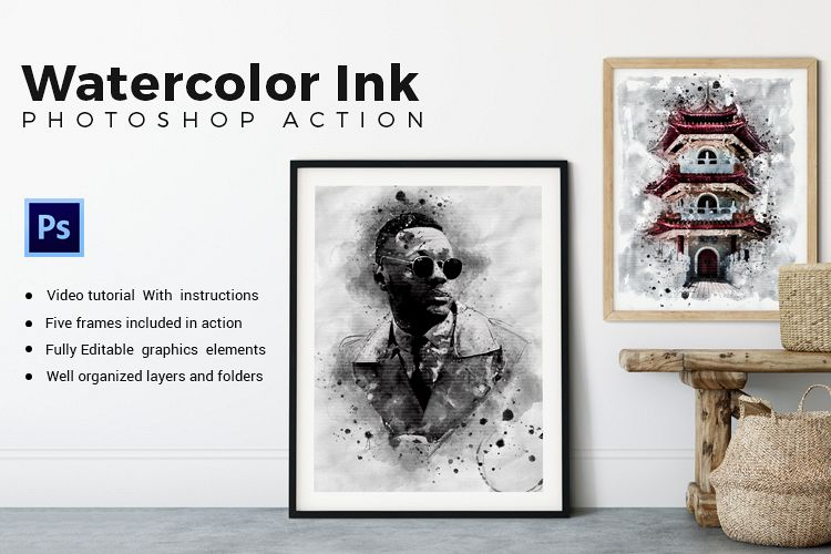 Water-Ink Photoshop Action example image 1