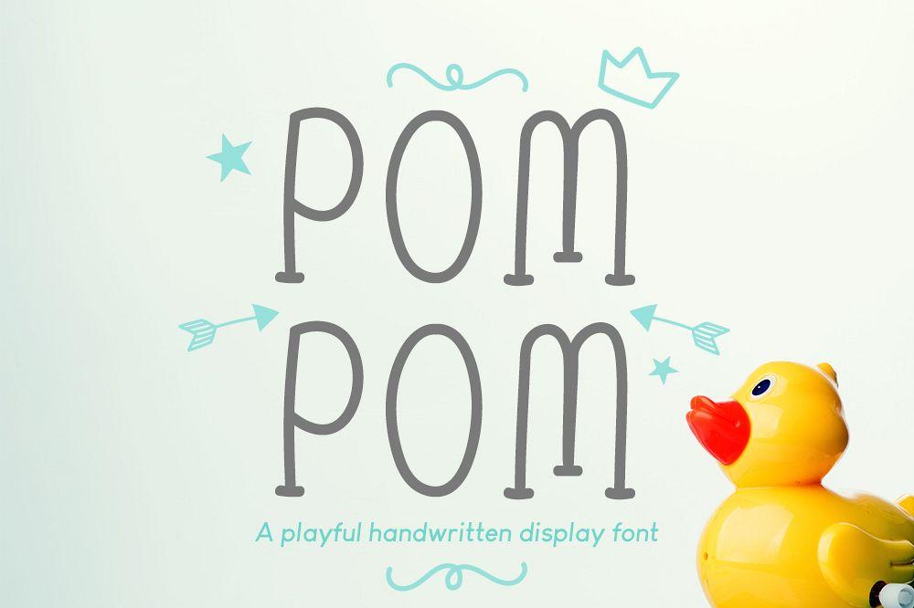 Pom Pom : Cute Handwritten font example image 1